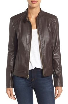 Cole Haan Leather Moto Jacket available at #Nordstrom