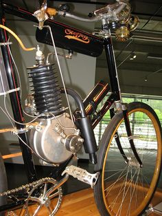 Steffey motorized bicycle at Barber