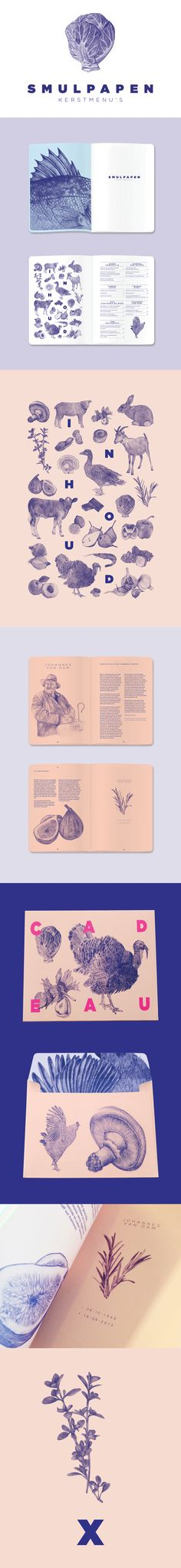 S M U L P A P E N by Mara Vissers menu design branding editorial layout