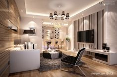 Living Room Wall Decoration Figure Of The Latest Fashion TV