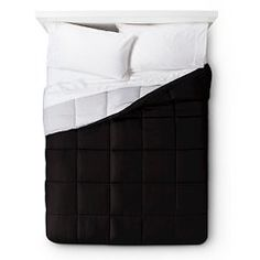 Elite Home Down Alternative Reversible Comforter - Gray/Black (King)