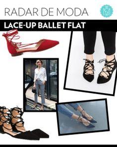 Estilo bailarina: sapatilha de amarrar para look romântico