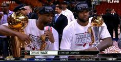Miami Heat 2013 NBA Champions! #Wade #Flash #MVP #LeBron #Finals #NBA #Basketball