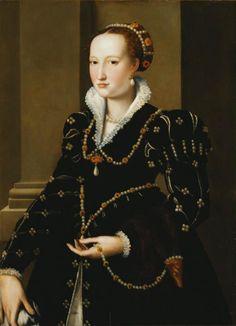 Alessandro Allori - Portrait of Isabella de' Medici (1542-1576) #renaissance #art