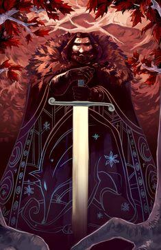 Doodle-Mon - Game of Thrones Ned Stark Ned Stark, Casa Stark, Eddard Stark, House Stark, Fantasy Book Series, Fantasy Books, Fantasy Art, Valar Dohaeris, Valar Morghulis