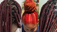Heart Set On Box Braids? Check Out These Amazing Burgundy Box Braids Burgundy Box Braids, African Braids, Protective Hairstyles, Hair Videos, Hair Type, Natural Hair Styles, Dreadlocks, Heart, Amazing