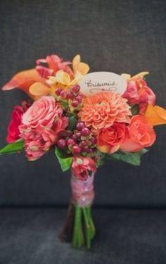 Berries in bridesmaid bouquet