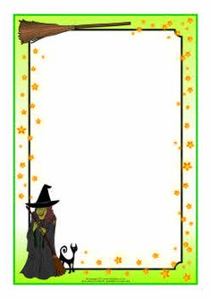 Witch and Wizard-Themed Page Borders Halloween Borders, Halloween Templates, Halloween Labels, Halloween Clipart, Halloween Fabric, Halloween Crafts For Kids, Halloween Themes, Fall Halloween, Disney Frames