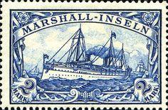 "Marshall Islands 1901 Yacht ""Hohenzollern II"" Issue  [MiNr 23, Sc 23] 2mk"