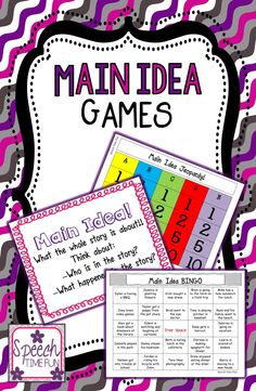 Speech time Fun: Main Idea Games