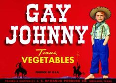 !!!!!  Gay Johnny Vegetables, c. s (1950)