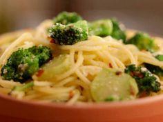 Jeff Mauro's Spaghetti and Broccoli Aglio Olio Recipe (he says Alio Olio means garlic in olive oil)