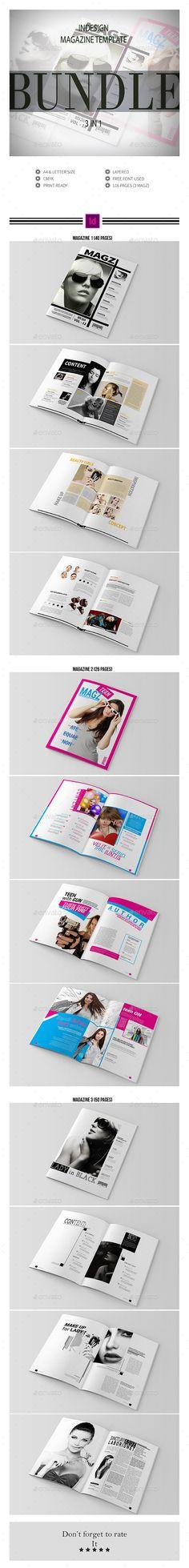 Multipurpose InDesign Magazine Template Bundle InDesign INDD #design Download: http://graphicriver.net/item/multipurpose-indesign-magazine-template-bundle/14360267?ref=ksioks