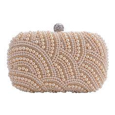 ZEARO borsa pochette di Perline Perle Cerimonia donna elegante handbag: Amazon.it: Abbigliamento
