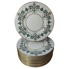 Check out this item at One Kings Lane! Minton Art Nouveau Luncheon Plates, S/12