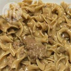 Photo de recette : Bœuf en sauce aux champignons, à la mijoteuse