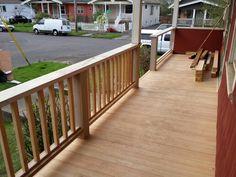 CVG fir decking is a beautiful wood..