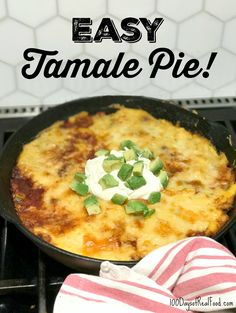 This easy one-dish meal features the flavors of tamales in the simplicity of a pie. It will definitely be making another appearance at our house! Try it!