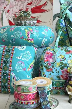 Amy Butler's Alchemy Fabrics with Renaissance Ribbons