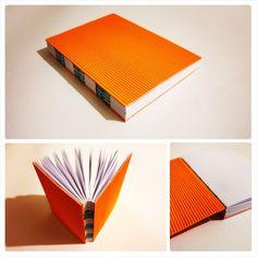 #handmade #sketchbook #design #luminiouscolors #orange #writing #frenchstitch #elyapimi turuncu defter