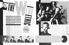 double page magazine spread constructivism - Google Search Punk Magazine, The Face Magazine, Presentation Slides, Presentation Design, Vertical Text, Neville Brody, Music Magazines, Typography, Lettering