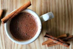 Cinnamon Hot Chocolate Ingredients:      1 tablespoon cocoa powder     1 tablespoon sugar     1/4 teaspoon cinnamon     1/2 teaspoon vanilla     2 tablespoons + 3/4 cup nondairy milk (something a bit thicker like almond) measured separately