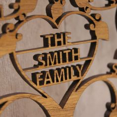 Personalised Wooden Heart Family Tree Wall Art by Urban Twist, the perfect gift for Explore more unique gifts in our curated marketplace. Family Tree Wall, Tree Wall Art, Family Trees, Personalised Family Tree, Personalized Christmas Ornaments, Grey Oak, On The High Street, Laser Cut Wood, Paper Cutting