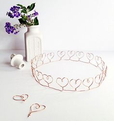 Wire Heart Crown- True Blue Me and You: DIYs for Creative People