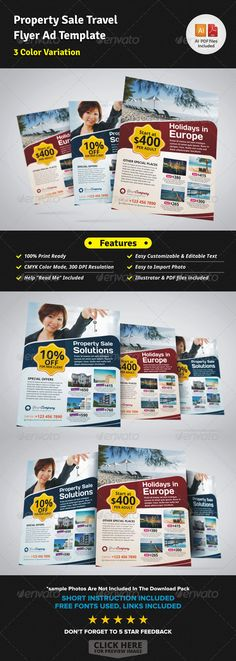 Creative Property Sale Travel Flyer Ad Template - Corporate Flyers