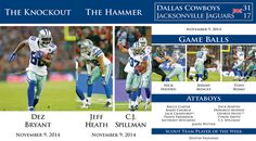 Trophy Time: Team Awards from Week 10 #DallasCowboys #5PointsBlue
