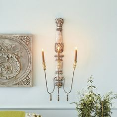 Valletta Candle Sconce... love these French inspired design sconces!!!
