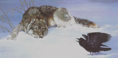 Raven and wolf, another animal with great magic Raven And Wolf, She Wolf, Maned Wolf, Wolf Howling, Wolf Spirit, Spirit Animal, Pagan Poetry, Goddess Symbols, Wolf Totem