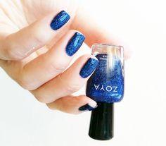 Zoya Nail Polish in Dream Hot Blue, Blue Nail Polish, Glitter, Nails, How To Make, Finger Nails, Ongles, Nail, Sequins