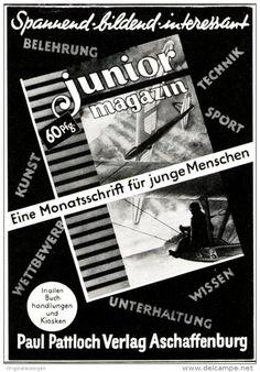 Original-Werbung/ Anzeige 1952 - JUNIOR MAGAZIN / PAUL PATTLOCH VERLAG - ASCHAFFENBURG -  ca. 80 x 115 mm