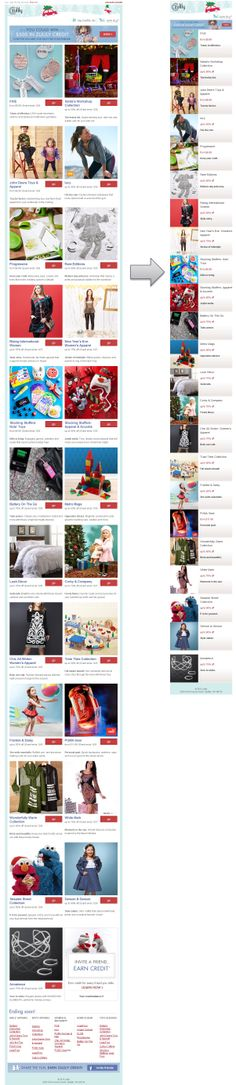 Responsive Email Design from Zulily