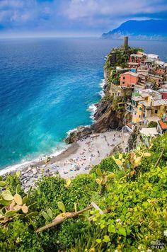 Vernazza beach, Italy #VisitingItaly