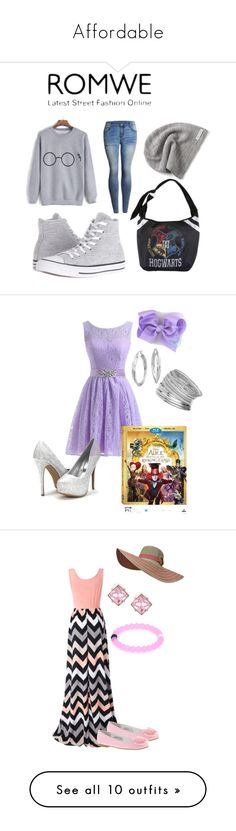 """""""Affordable"""" by kylie-oden ❤ liked on Polyvore featuring Converse, Warner Bros., Blue Nile, Miss Selfridge, contestentry, DisneyAlice, Chicnova Fashion, Nina Kids, Kenneth Jay Lane and BKE"""
