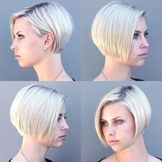 blunt layered bob - Google Search
