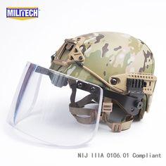 Dynamic Militech Multicam Airframe Cp Air Frame Vent Nij Iiia 3a Bulletproof Helmet Visor Set Ballistic Helmet Shield Bullet Proof Mask Self Defense Supplies