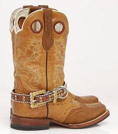 BELT BUCKLE BROWN BLING RHINESTONE WESTERN JEWELRY BOOT ANKLET STRAP .. kinda actually like these