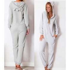 Fashion Leisure Loose V-Neck Jumpsuits [3457839]