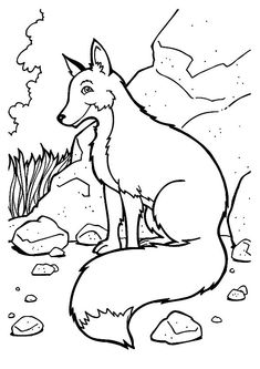 Printable Fox Coloring Pages Inspirational Free Printable Fox Coloring Pages for Kids Animal Coloring Pages Fox Coloring Page, Cute Coloring Pages, Flower Coloring Pages, Animal Coloring Pages, Coloring Pages To Print, Printable Coloring Pages, Adult Coloring Pages, Coloring Books, Fairy Coloring