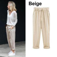 64bac258cb Women s Plus Size Cotton Cropped Pants