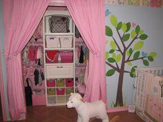 closet organization idea-love the curtains for doors