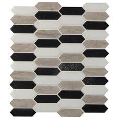 Honed Marble, Marble Mosaic, Stone Mosaic, Mosaic Wall, Stone Tiles, Mosaic Tiles, Wall Tile, Bathroom Wall, Herringbone Backsplash