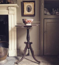 Just bought this delightful little metamorphic regency reading table love the lead ball feet. #interiors #antiques #regency #interiordesign #mahogany #table #elegant #frome #townhouse #somerset #tradchap by tradchap