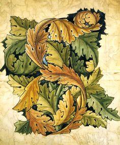 William Morris  Acanthus Wallpaper Design William Morris 1874 Pencil, watercolour and bodycolour on paper
