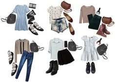 """""""Outfits 1 -- Skylar"""" by flapper-shoes ❤ liked on Polyvore"""
