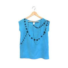 Ink Beads Silk Top Light Blue, $99, now featured on Fab.