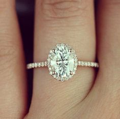 Diamond Engagement Rings Next up is this classic engagement ring inspiration! It is a rose gold ring with a carats of oval shaped diamond. Who loves this too? Leave your comments below! by thewedlist - Classic Engagement Rings, Diamond Engagement Rings, Engagement Rings Minimalist, Oval Shaped Engagement Rings, Petite Engagement Ring, Delicate Engagement Ring, Engagement Bands, Engagement Pictures, Wedding Engagement